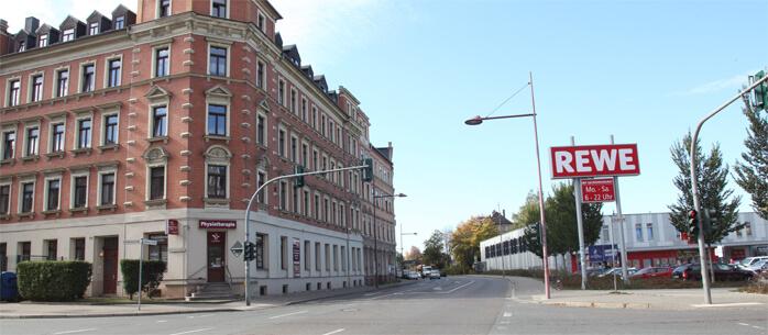 Ansicht der Physiotherapie Ines Müller auf der Barbarossastraße 101 auf dem Kaßberg in Chemnitz